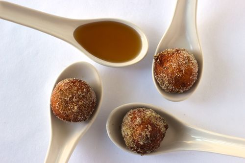 Spiced Ricotta Fritters with Maple Syrup - Fork & Spoon